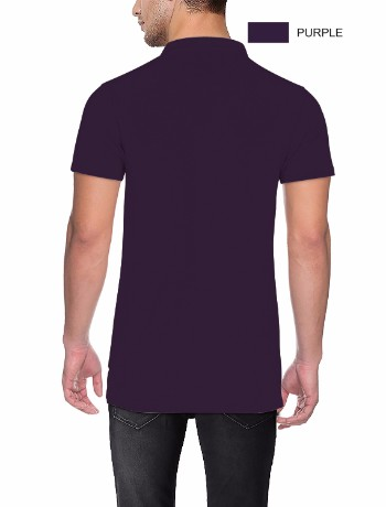 COLLAR NECK T-SILVER Purple