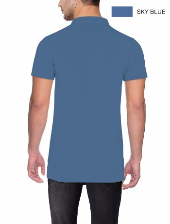 COLLAR NECK T-SHIRT Sky Blue