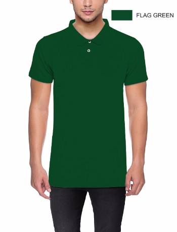COLLAR NECK T-SILVER Flag Green