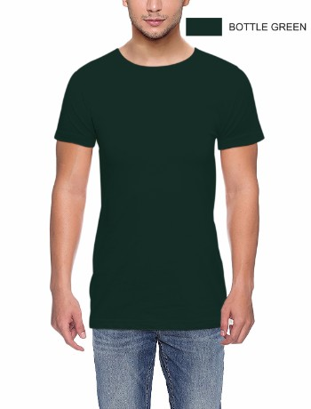 ROUND NECK T-CLASSIC-BOTTLE GREEN