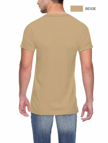 Round neck Back Beige