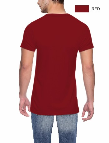 Round neck Back Red