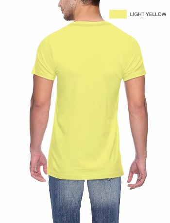 Round neck Back Yellow