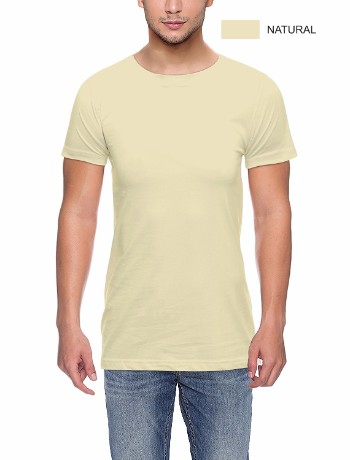 ROUND NECK T-CLASSIC-NATURAL