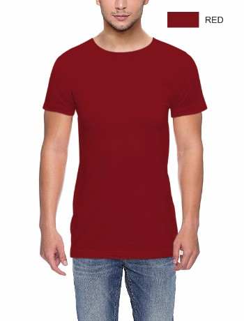 ROUND NECK T-CLASSIC-RED