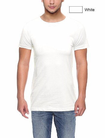 Round neck White
