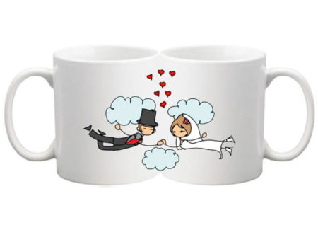COUPLE IN CLOUDS MUGS